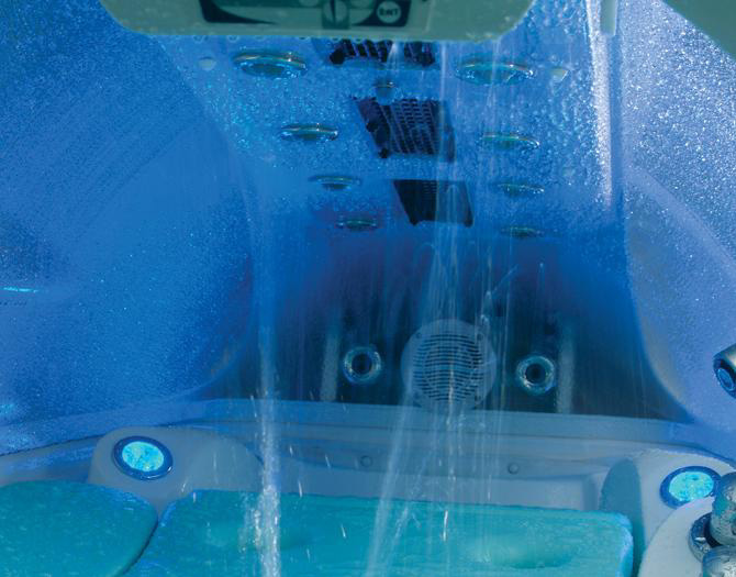 shower in the spa jet 2g model